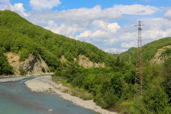 Река Ceno вид с моста