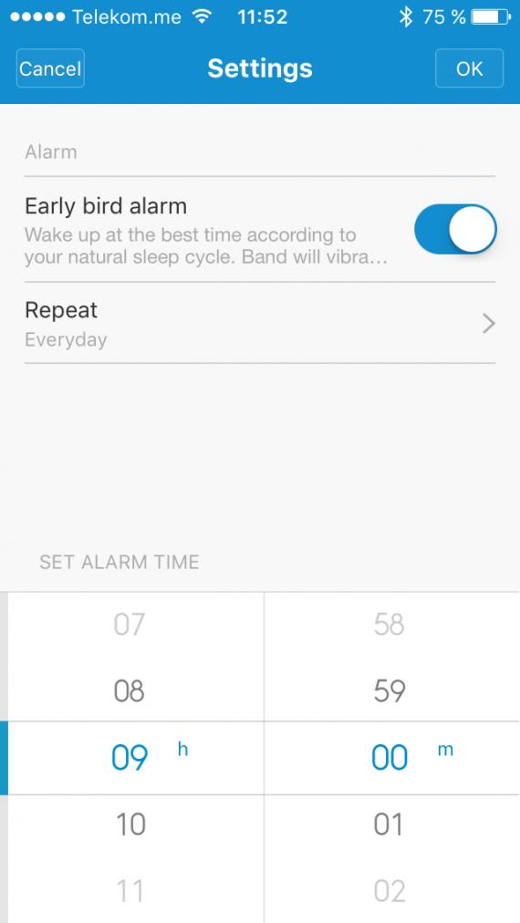 Xiaomi MI Band будильник 2