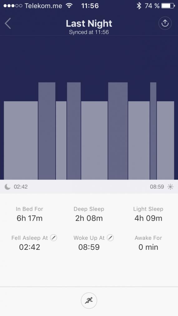 Xiaomi MI Band фазы сна