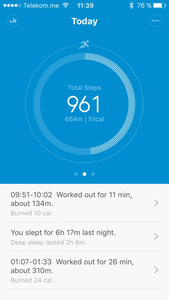 Xiaomi MI Band скриншот