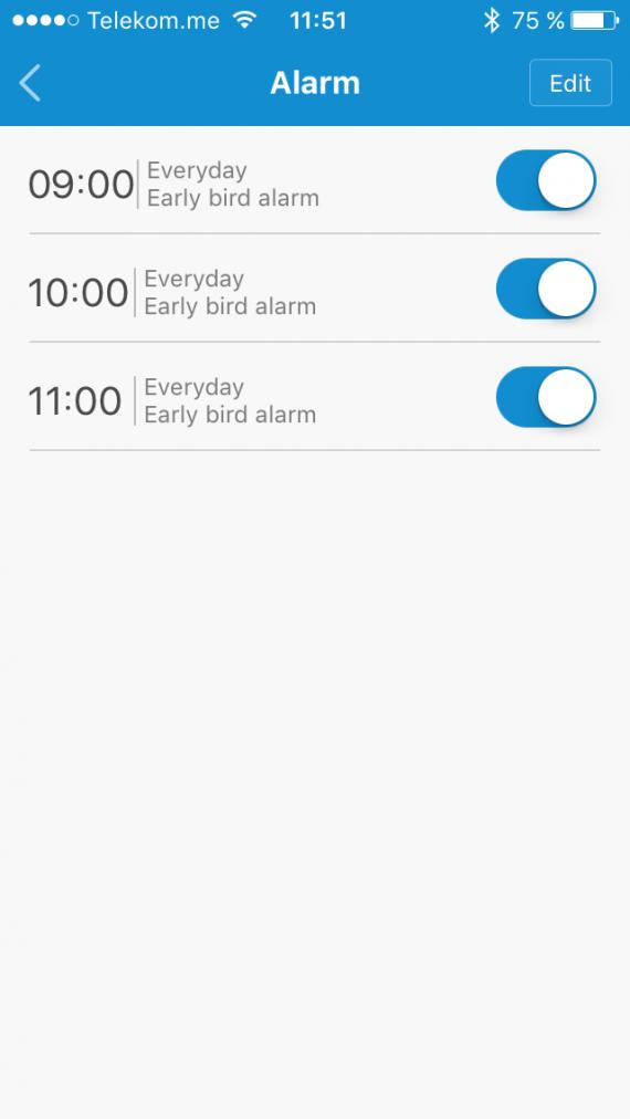 Xiaomi MI Band будильник