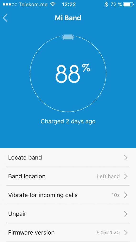 Xiaomi MI Band вибрация при звонке